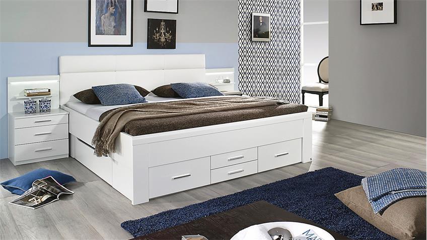 Bett FRIEDBERG Schlafzimmerbett in weiß 180x200 cm