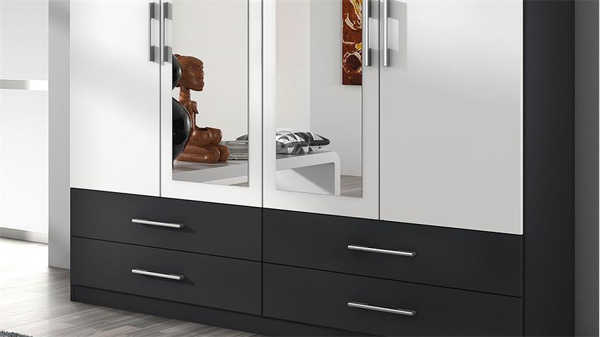 kleiderschrank hersbruck extra in wei grau metallic 181. Black Bedroom Furniture Sets. Home Design Ideas