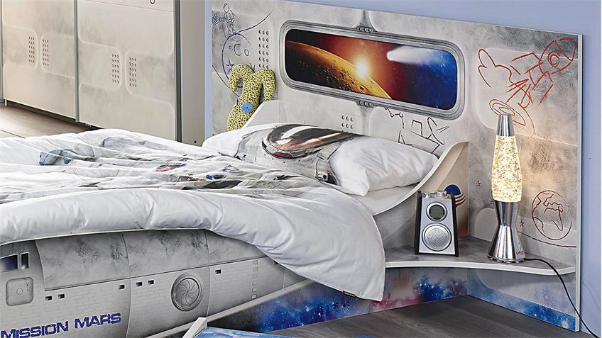 Kinderzimmer MIMAS Jugendzimmer in weiß mit Space-Motiv