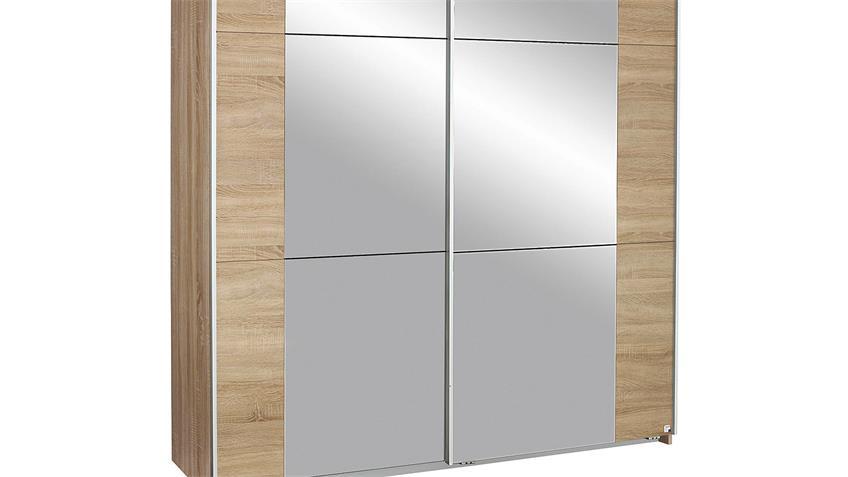 Schwebetürenschrank KRONACH Eiche Sonoma mit Spiegel 175