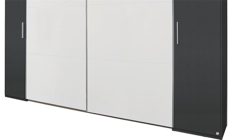 Schwebetürenschrank KRONACH grau metallic und weiß 312