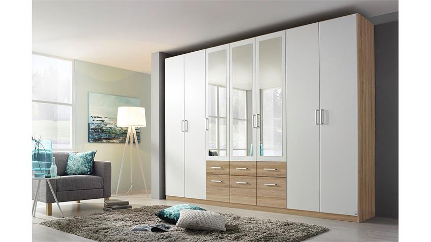 kleiderschrank bingen extra schrank in wei und sonoma eiche 315. Black Bedroom Furniture Sets. Home Design Ideas