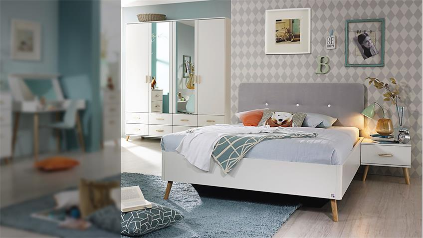jugendzimmer set annett bett schrank kommode wei esche coimbra massiv. Black Bedroom Furniture Sets. Home Design Ideas