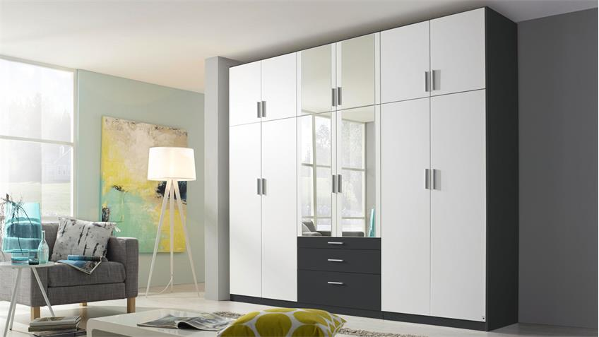 kleiderschrank hildesheim extra schrank in wei und grau mit spiegel. Black Bedroom Furniture Sets. Home Design Ideas