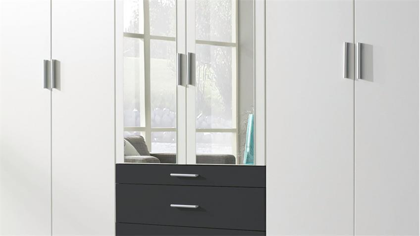 kleiderschrank hildesheim extra schrank in wei und grau mit spiegel. Black Bedroom Furniture Sets. Home Design Ideas