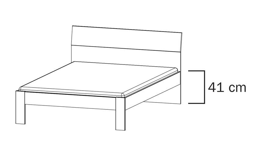 Futonbett FLEXX Bett Bettgestell Doppelbett in Eiche Sonoma 140x200 cm