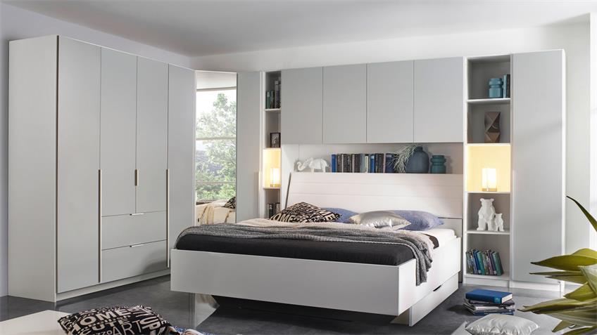 Kleiderschrank MAFIS Schrank Schlafzimmer grau und weiß