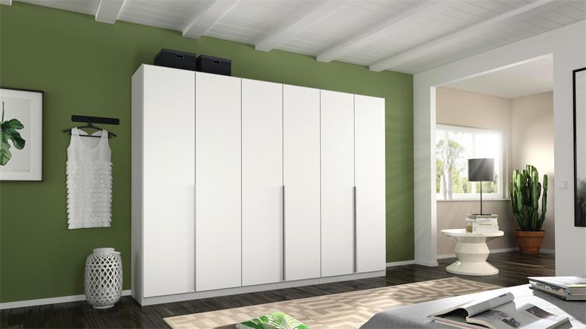 Kleiderschrank ALABAMA Schrank Schlafzimmer weiß 271 cm