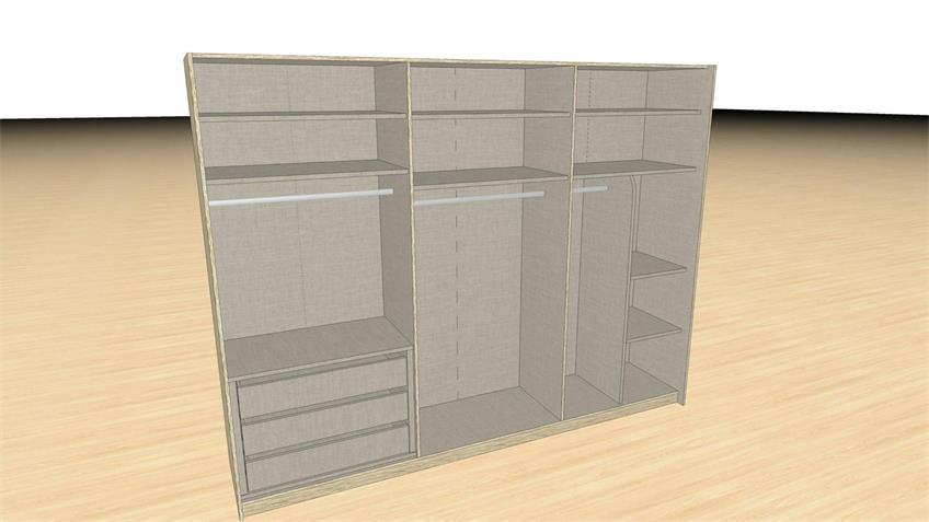 Zubehör Premium Plus Inneneinteilung für 271 cm Schrank