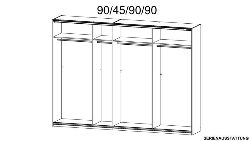 Zubehör Classic Inneneinteilung für QUADRA 315 cm