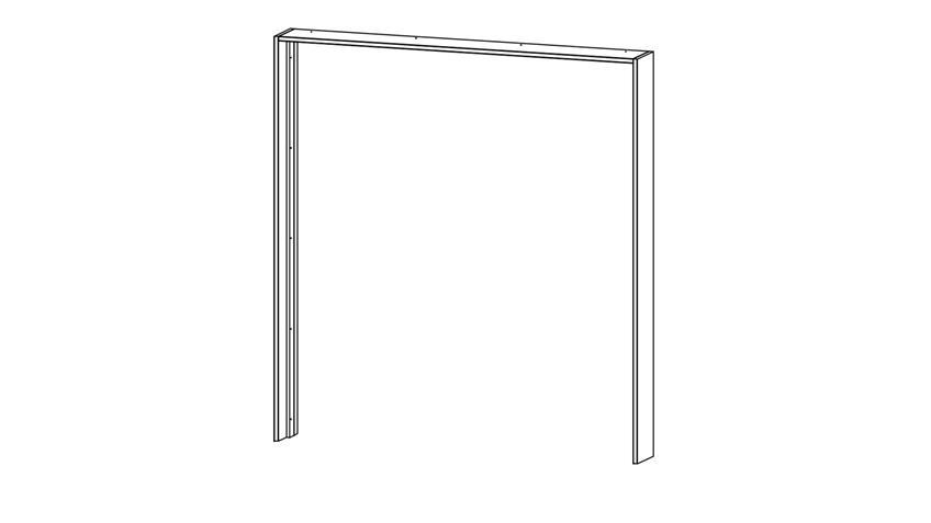Passepartout TOKIO grau-metallic für Schrank 181 cm