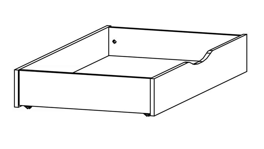 Bettkasten ATLANTA seidengrau Rollen für Bett 180x200 cm