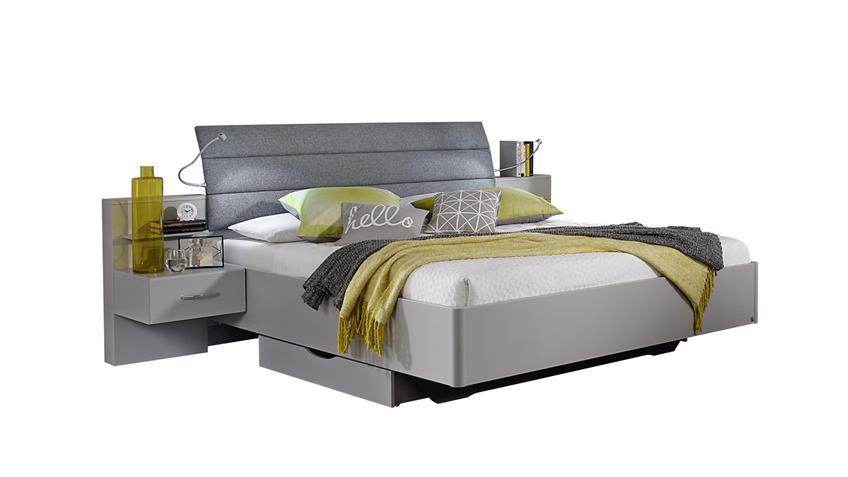 Schlafzimmer Set ATLANTA 4-tlg. seidengrau 180x200 cm