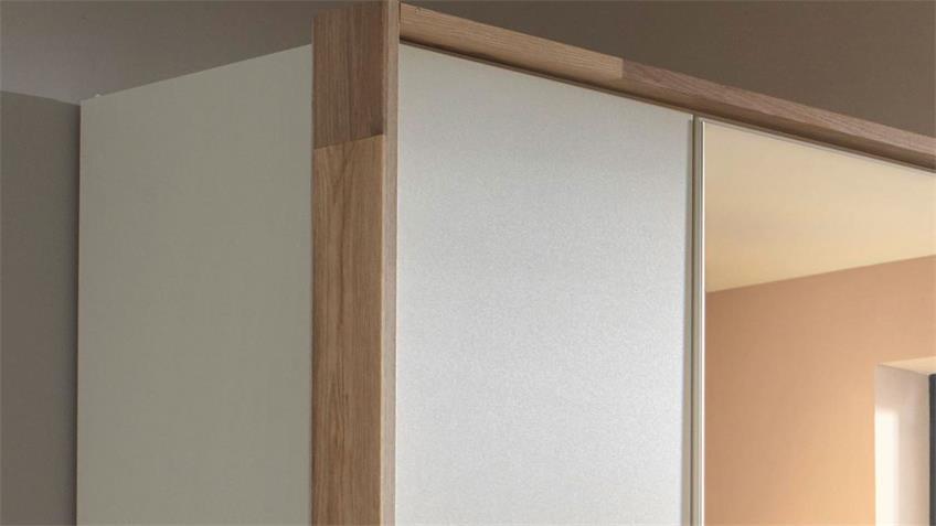 Kleiderschrank PAI 3-trg. weiß Eiche Spiegel 136 cm