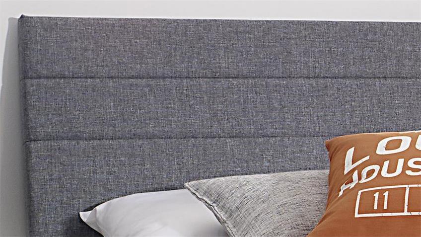Bett SCALA Eiche Wotan weiß Kopfteil Polster 180x200 cm