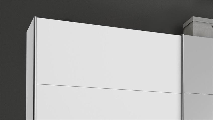 Schwebetürenschrank KULMBACH 3-trg. weiß Spiegel 361 cm