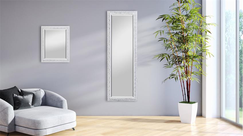 spiegel elena antik wei wandspiegel 50x150 cm. Black Bedroom Furniture Sets. Home Design Ideas