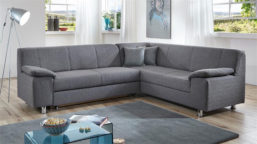Ecksofa ALAMO Wohnlandschaft Sofa in grau