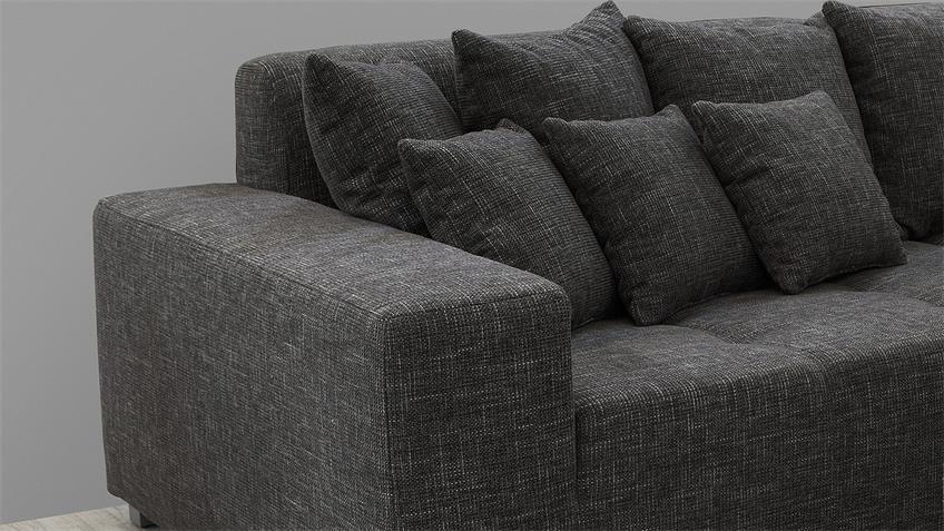 Bigsofa ARIVOS Sofa Garnitur in grau weiß inkl. Kissen