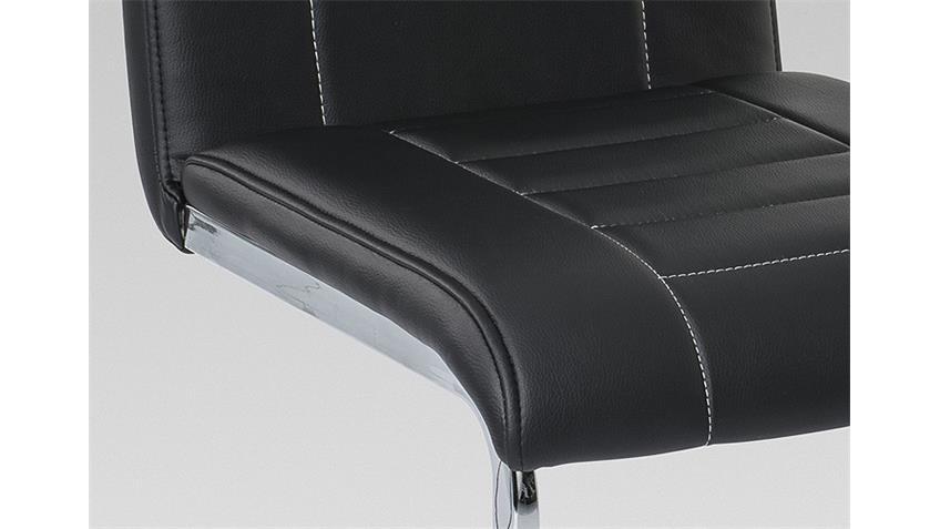 Schwingstuhl RUTH 3000 4er Set schwarz Chrom