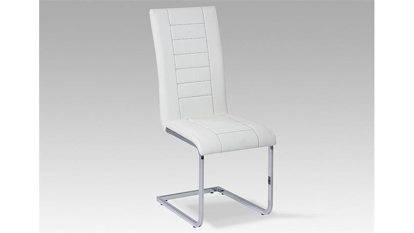 Schwingstuhl RUTH 3000 4er Set weiß Chrom