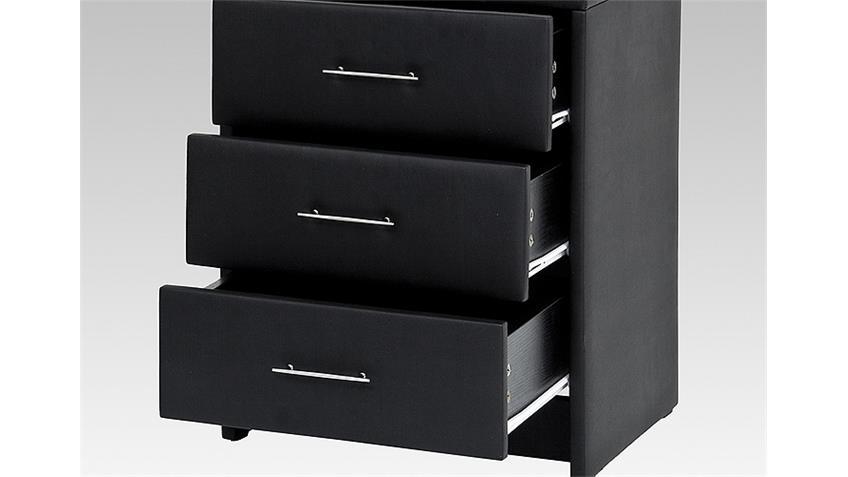 Nachtkonsole HELSINKI Nachtkommode Kommode in schwarz 62 cm