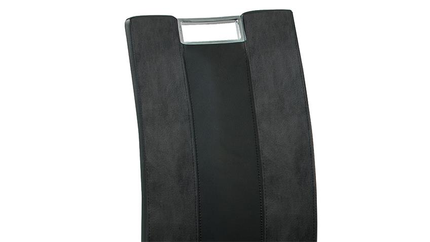 Schwingstuhl BARI in grau schwarz und chrom