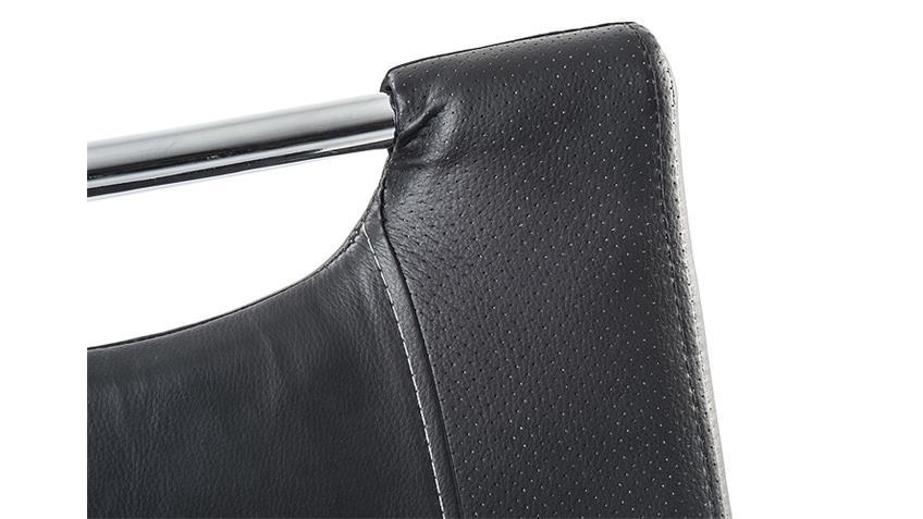 schwingstuhl sabine 4er set stuhl in schwarz und chrom. Black Bedroom Furniture Sets. Home Design Ideas