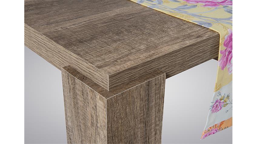 Esstisch MAX I Esszimmertisch in Eiche grau 160x90 cm