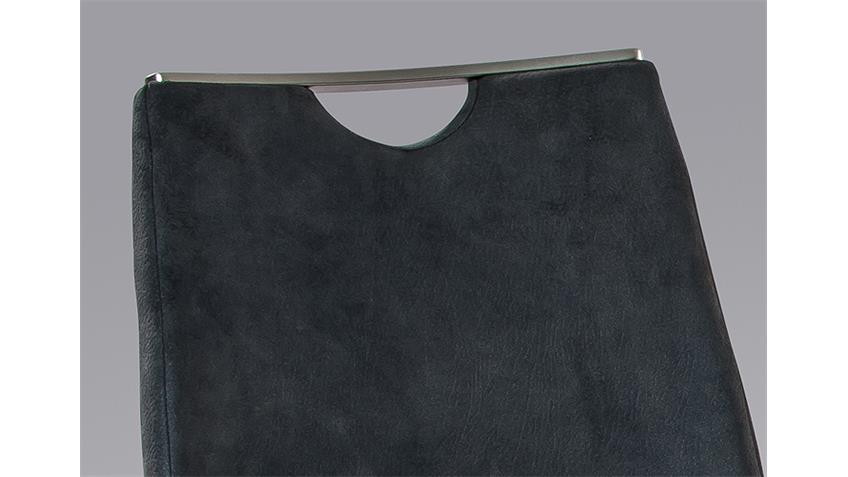 schwingstuhl madrid 4er set anthrazit mit griff. Black Bedroom Furniture Sets. Home Design Ideas
