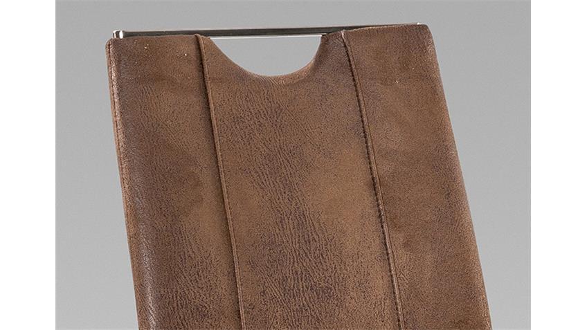 Schwingstuhl TRIESTE 4er Set Vintage dunkel braun