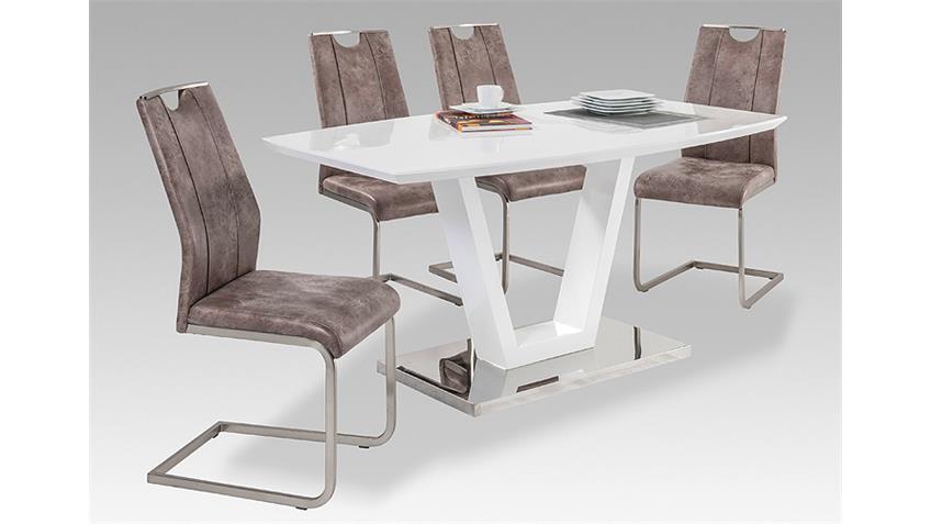 schwingstuhl trieste 4er set vintage hell. Black Bedroom Furniture Sets. Home Design Ideas