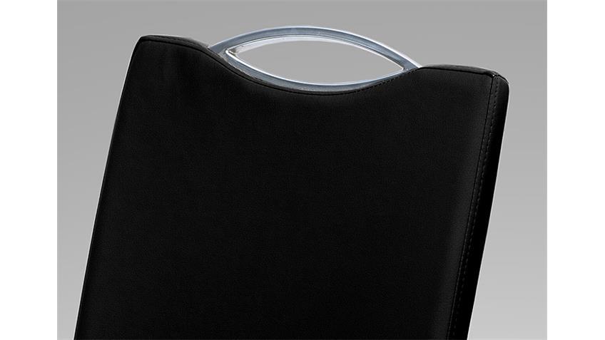 Schwingstuhl PARMA 4er Set schwarz mit Griff