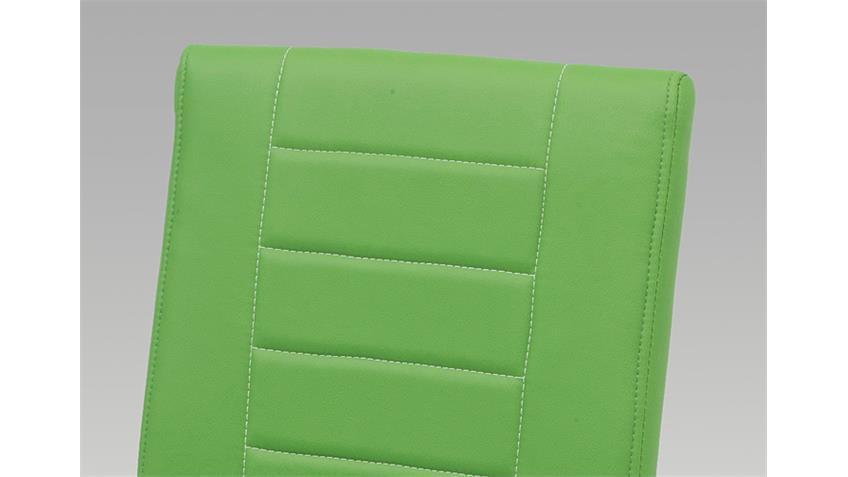 Schwingstuhl RUTH 3000 4er Set grün Chrom