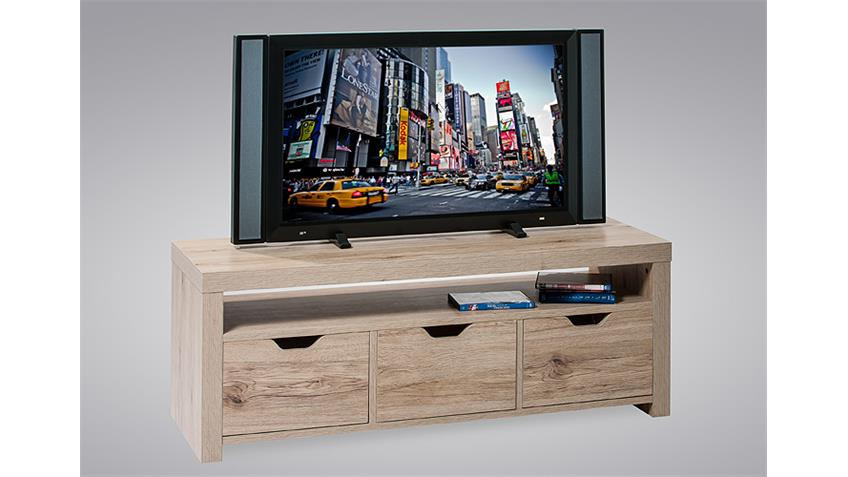 TV Board ALEX II Schrank Regal Lowboard in MDF Eiche natur