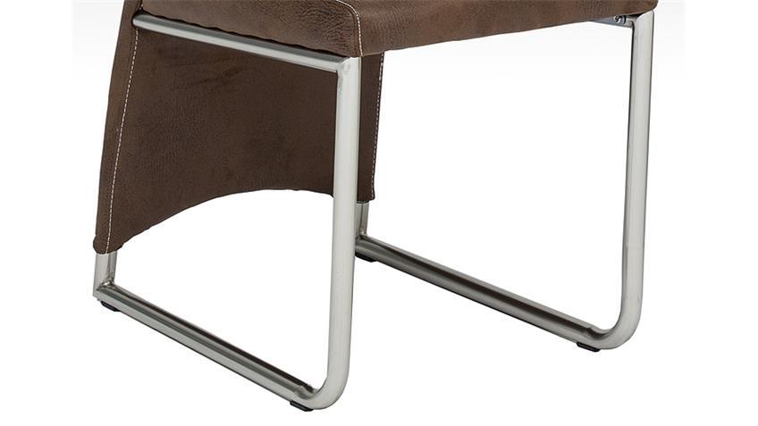Stuhl MANU 4er Set in Vintage dunkel braun