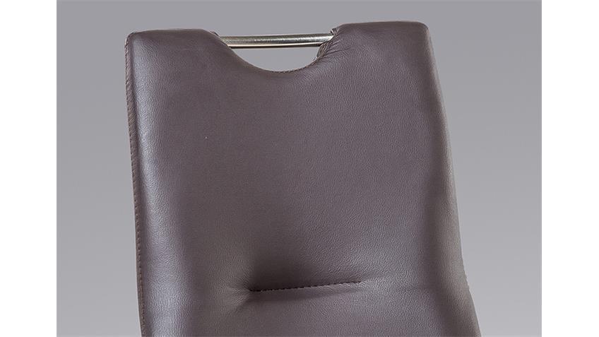 Schwingstuhl TINA 4er Set in braun mit Griff