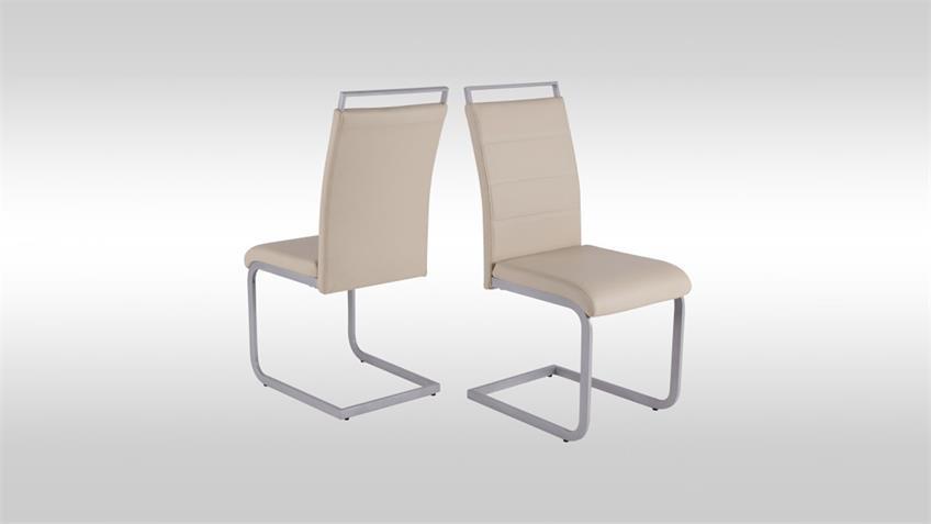 Schwingstuhl 4er Set SEBI Stuhl Esszimmerstuhl taupe
