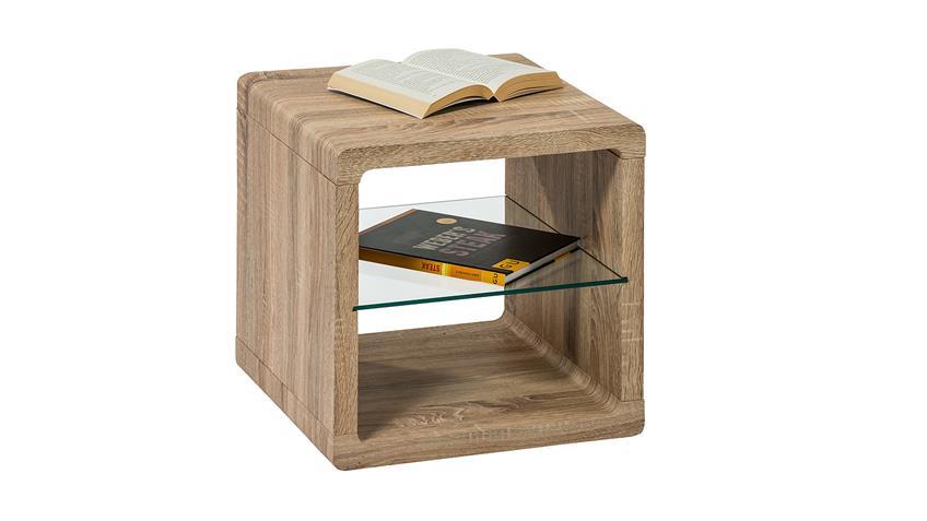Beistelltisch MELITTAS Couchtisch Tisch Sonoma Eiche 40 cm
