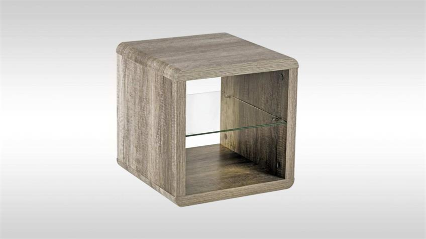 Beistelltisch MELITTAS Couchtisch Tisch Wildeiche 40 cm