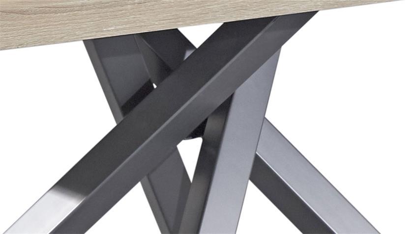 Esstisch KAIRO in MDF Sonoma Eiche und graphit Tisch