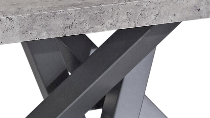 Esstisch KAIRO in MDF Beton-Optik Gestell graphit Tisch