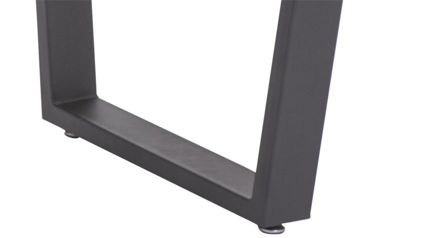 Esstisch JUIST MDF Sonoma Eiche Gestell schwarz lackiert