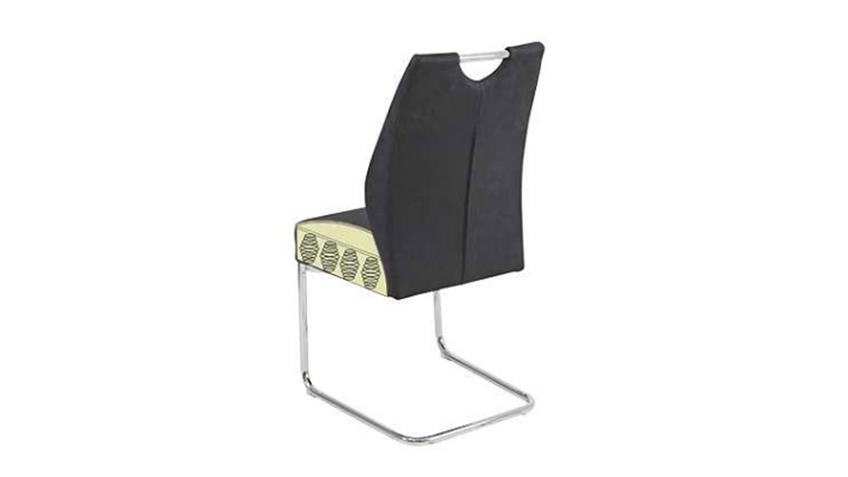 Schwingstuhl MAIK 4er Set Stuhl in Vintage anthrazit