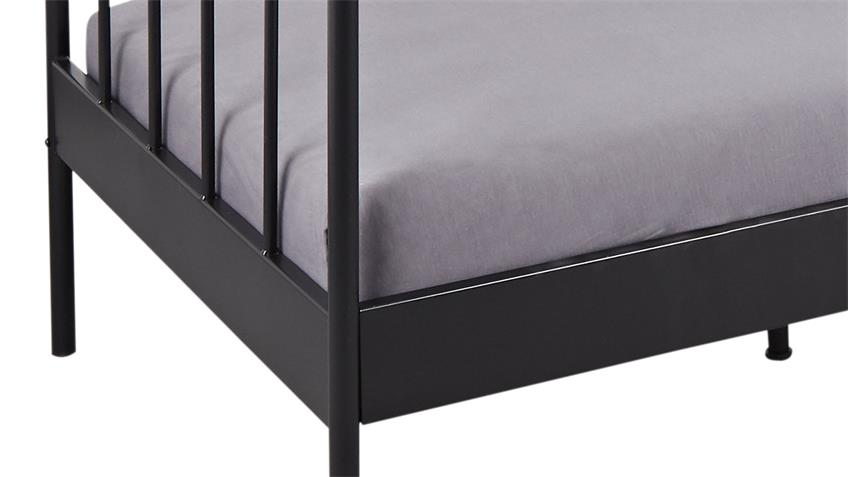 Bett FINE Gestell Metall in schwarz lackiert Metallbett