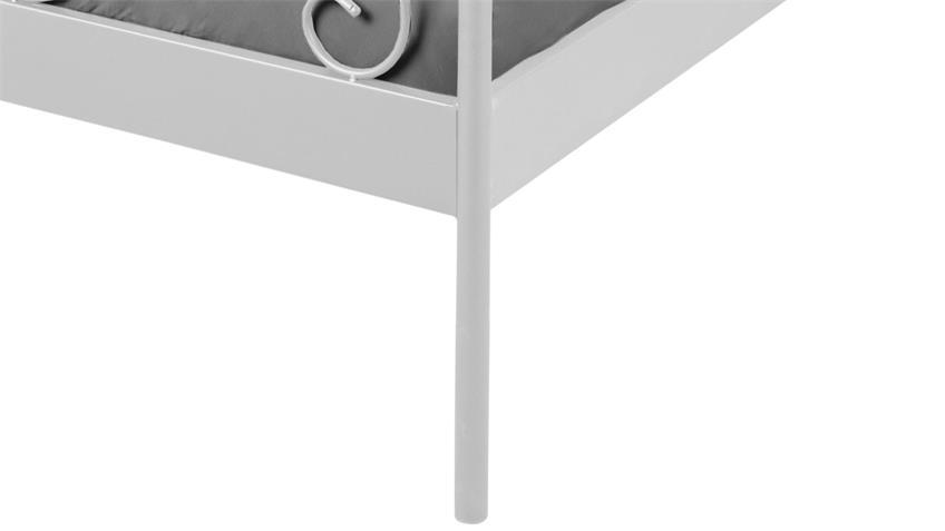 Bettgestell JUSTINE Bett Gestell Metall weiß 140x200 cm
