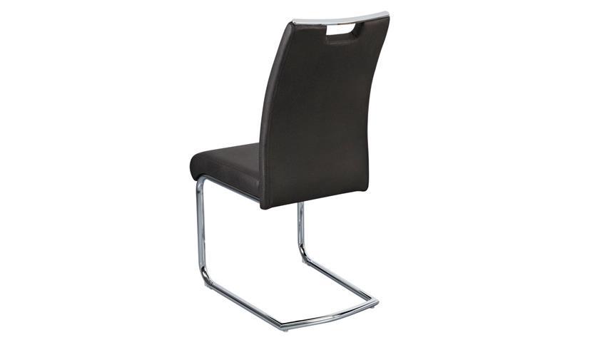 Schwingstuhl COMO 4er-Set Stuhl vintage schwarz mit Griff