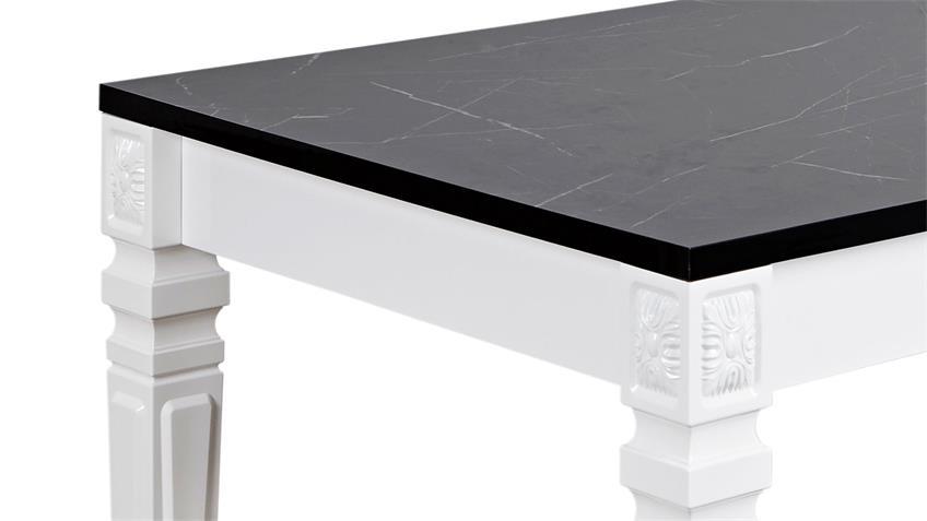 Esstisch ODESSA Tisch in Marmor-Optik und weiß 160x90 cm