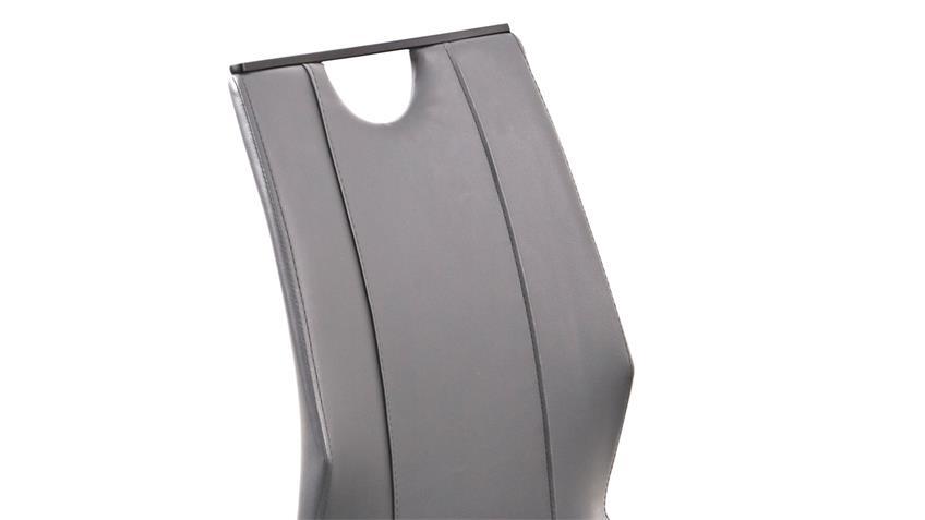 Z-Stuhl CAMINO 4er-Set Schwingstuhl grau und schwarz matt