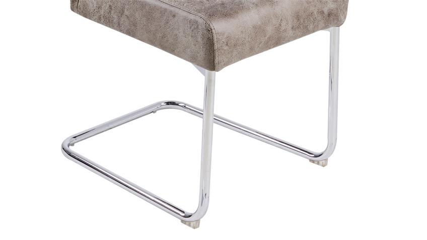 Schwingstuhl MAIK 4er Set Stuhl in Vintage beige hell